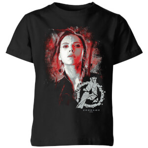 T-Shirt Avengers Endgame Black Widow Brushed - Nero - Bambini