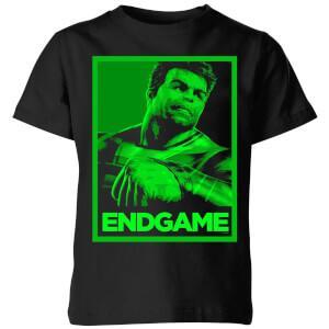 Avengers Endgame Hulk Poster Kids' T-Shirt - Black