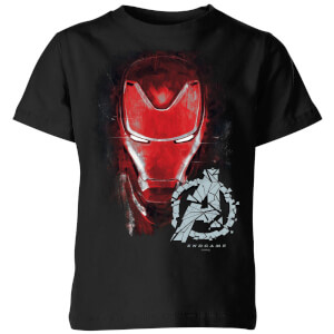 T-shirt Avengers Endgame Iron Man Brushed - Enfant - Noir