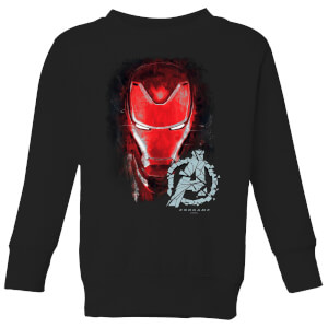 Avengers Endgame Iron Man Brushed Kids' Sweatshirt - Schwarz