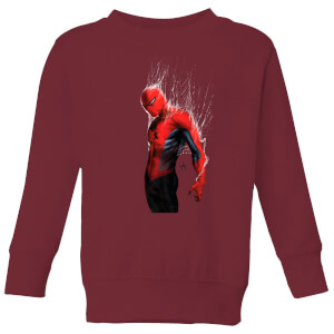 Marvel Spider-man Web Wrap Kids' Sweatshirt - Burgundy