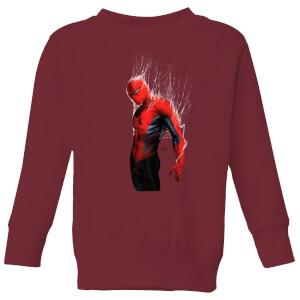 Marvel Spider-man Web Wrap Kids' Sweatshirt - Burgundy