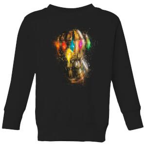 Avengers Endgame Infinity Gauntlet Warlord Kids' Sweatshirt - Black