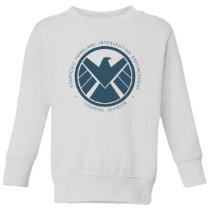 Marvel Avengers Agent Of SHIELD Logistics Division Kids' Sweatshirt - White