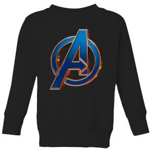 Sweat-shirt Avengers Endgame Heroic Logo - Enfant - Noir