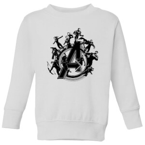 Avengers Endgame Hero Circle Kids' Sweatshirt - White