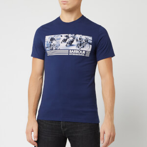 Barbour International Men's Comp T-Shirt - Medieval Blue