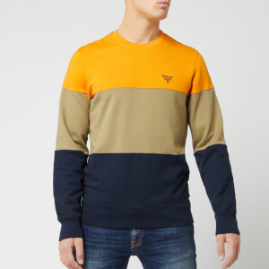 Barbour Men's Beacon Derwent Crew Jumper - Sunset Orange