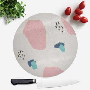 Crayon Pattern Dots And Blobs Round Chopping Board