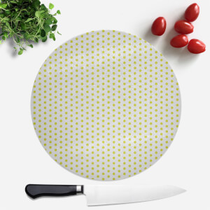 Lime Green Polka Dot Round Chopping Board