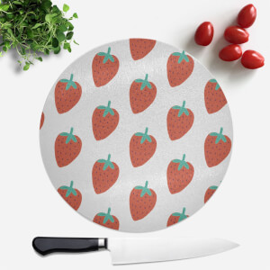 Strawberry Pattern Round Chopping Board