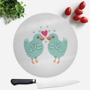 Birds In Love Round Chopping Board