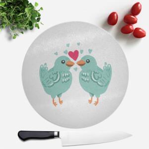 Birds In Love Round Chopping Board