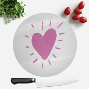 Love Heart Round Chopping Board