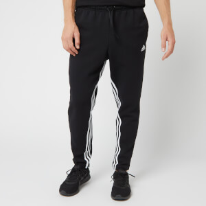 adidas Men's Mh 3 Stripe Sweatpants - Black