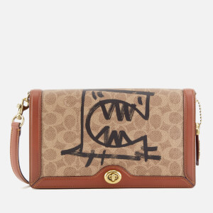 Coach 1941 Women's Coated Canvas Signature Rexy by Guang Yu Riley Cross Body Bag - Tan Rust