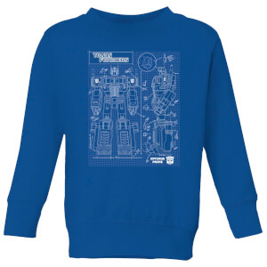 Transformers Optimus Prime Schematic Kids' Sweatshirt - Royal Blue