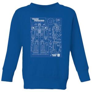 Transformers Optimus Prime Schematic Kids' Sweatshirt - Royal Blue