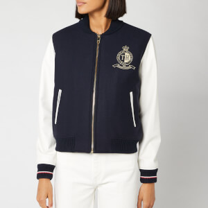 Tommy Hilfiger Women's Belle Baseball Jacket - Sky Captain