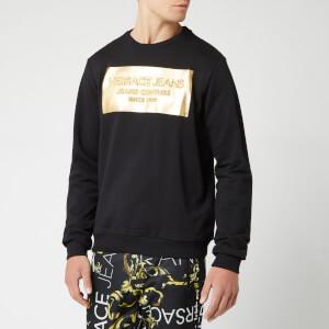 Versace Jeans Men's Foil Logo Sweatshirt - Nero