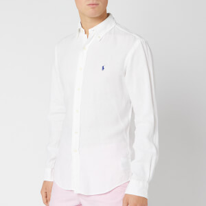 Polo Ralph Lauren Men's Slim Fit Linen Shirt - Pure White