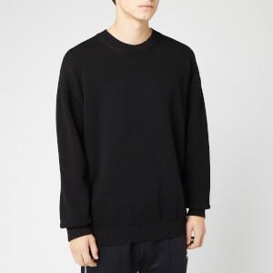 KENZO Men's Knitted Back Paris Logo Jumper - Black