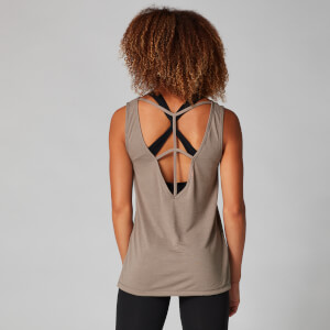 MP Drop Back Strap Detail Vest Top - Praline