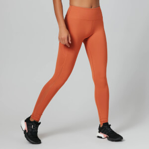 Power Mesh Leggings - Orange