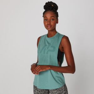 Drop Armhole Logo Vest - Sage Brush