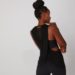 Cross Back Vest - Zwart
