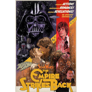 Star Wars: Empire Strikes Back 'Shocking Revelations!' 16 x 24 Inches Limited Edition Lithograph Print by J.J. Lendl