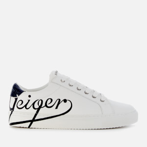 Kurt Geiger London Women's Liza Geiger Leather Cupsole Trainers - White/Black