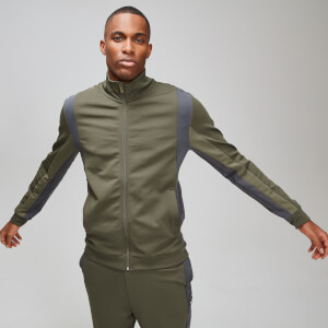 Colourblock Track Jacke - Birch