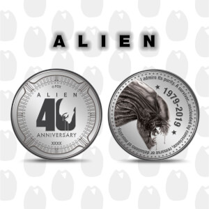 Alien '40th Anniversary' Collector's Limited Edition Coin: Silver Variant