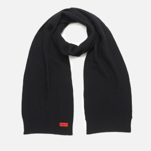HUGO Men's Zappo 2 Rib Scarf - Black