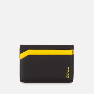 HUGO Men's Subway Card Holder - Black/Yellow