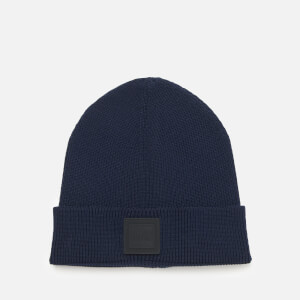 BOSS Men's Fox Squared Logo Beanie Hat - Navy