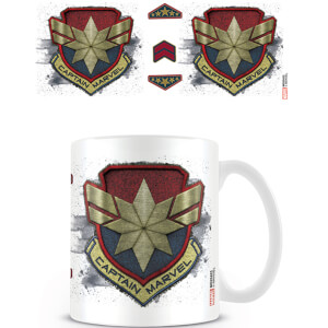 Captain Marvel (Badge) Coffee Mug