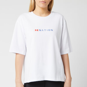 P.E Nation Women's Lineal Success Short Sleeve T-Shirt - White