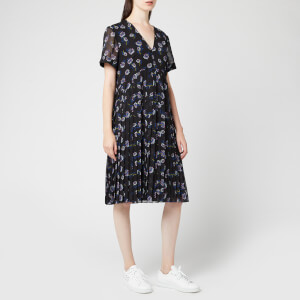 KENZO Women's Passion Flower Light Crepe Dress - Black