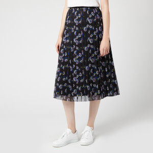 KENZO Women's Passion Flower Light Crepe Skirt - Black