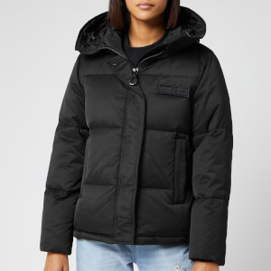 KENZO Women's Solid Technical Puffa Jacket - Black