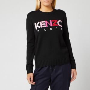 KENZO Women's Wool Merino Kenzo Paris Jumper - Black