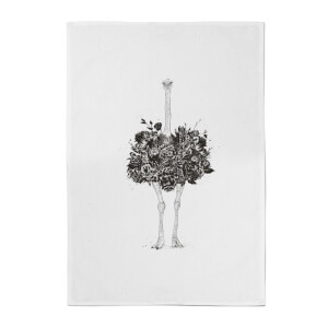Ostrich Cotton Tea Towel