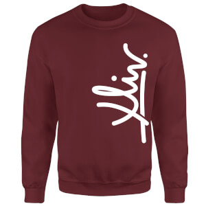 How Ridiculous XLIV Script Vertical Sweatshirt - Burgundy