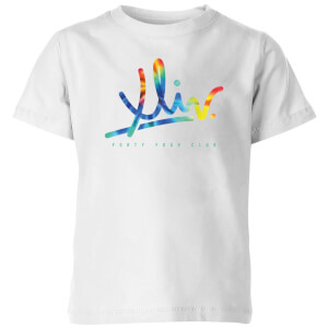 How Ridiculous XLIV Script Tie-Dye Kids' T-Shirt - White
