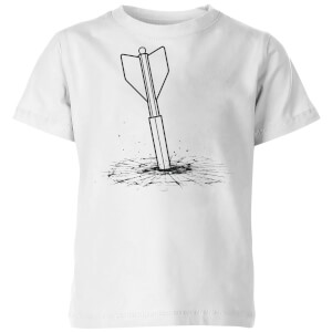 How Ridiculous Giant Dart Vs. Bulletproof Glass Kids' T-Shirt - White