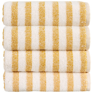 Christy Soho Stripe 4 Piece Towel Bale - Ochre
