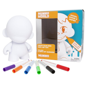 Kidrobot MUNNY Reusable DIY Toy with Wipe-Off Markers