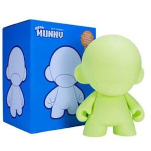 Kidrobot DIY Mega Munny 18 Inch Glow In the Dark Figure